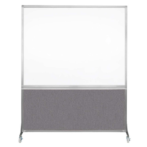 DivideWrite Portable Whiteboard Partition 5' x 6' Slate Fabric