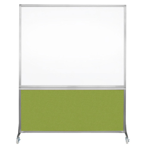 DivideWrite Portable Whiteboard Partition 5' x 6' Lime Green Fabric