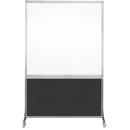 DivideWrite Portable Whiteboard Partition 4' x 6' Black Fabric
