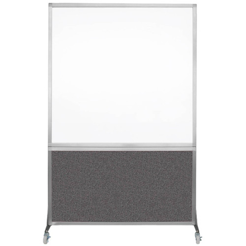 DivideWrite Portable Whiteboard Partition 4' x 6' Charcoal Gray Fabric