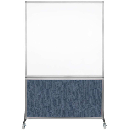 DivideWrite Portable Whiteboard Partition 4' x 6' Ocean Fabric
