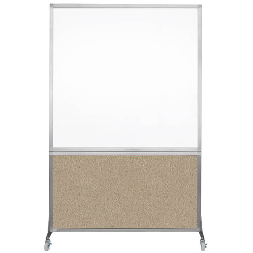 DivideWrite Portable Whiteboard Partition 4' x 6' Rye Fabric