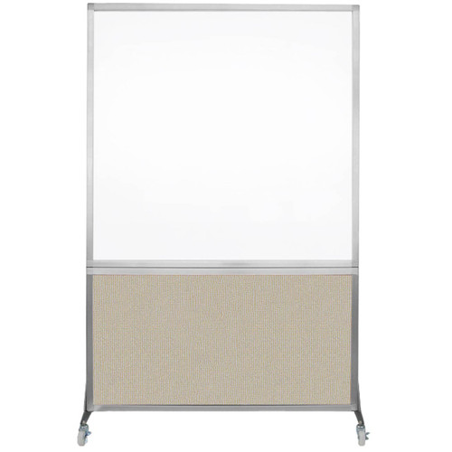 DivideWrite Portable Whiteboard Partition 4' x 6' Sand Fabric