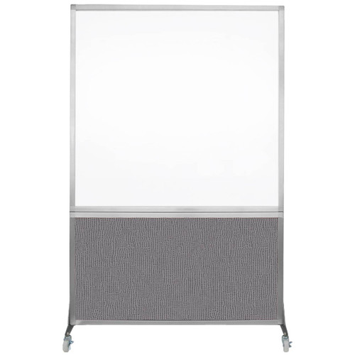 DivideWrite Portable Whiteboard Partition 4' x 6' Slate Fabric