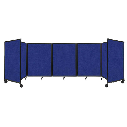 Room Divider 360 Folding Portable Partition 14' x 4' Royal Blue Fabric