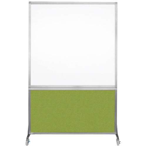 DivideWrite Portable Whiteboard Partition 4' x 6' Lime Green Fabric
