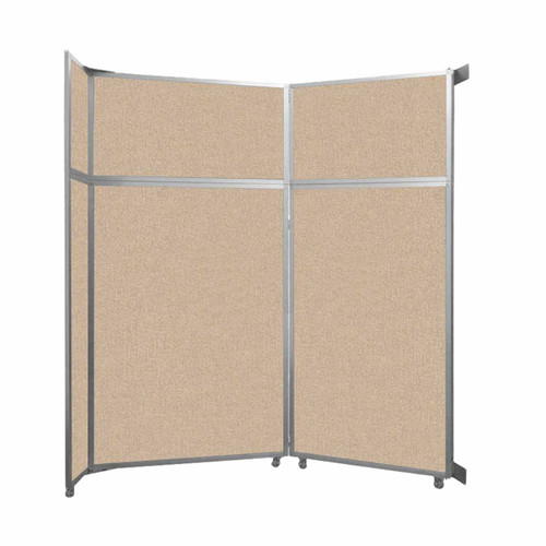 """Operable Wall Folding Room Divider 7'11"""" x 8'5-1/4"""" Beige Fabric"""