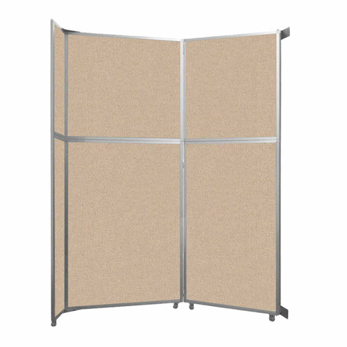 """Operable Wall Folding Room Divider 7'11"""" x 10'3/4"""" Beige Fabric"""