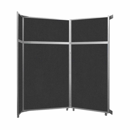 """Operable Wall Folding Room Divider 7'11"""" x 8'5-1/4"""" Black Fabric"""