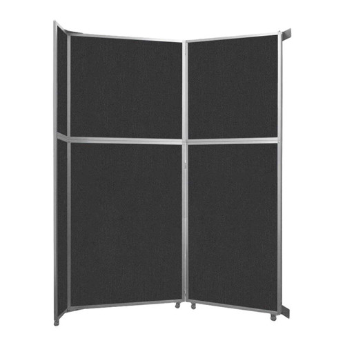 """Operable Wall Folding Room Divider 7'11"""" x 10'3/4"""" Black Fabric"""