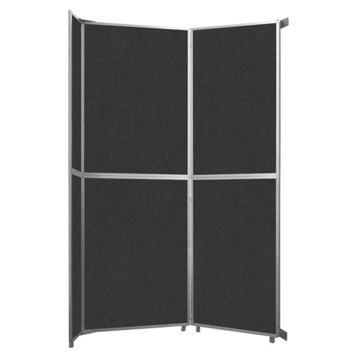 "Operable Wall Folding Room Divider 7'11"" x 12'3"" Black Fabric"