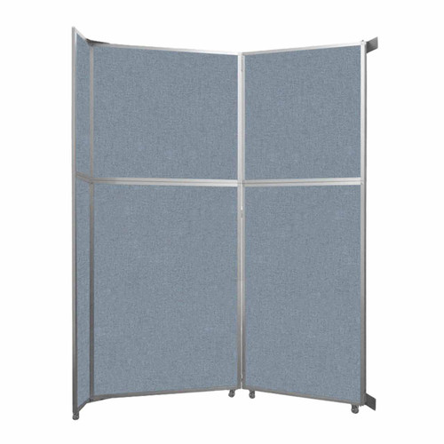 "Operable Wall Folding Room Divider 7'11"" x 10'3/4"" Powder Blue Fabric"