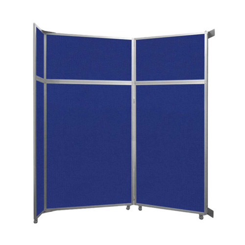 "Operable Wall Folding Room Divider 7'11"" x 8'5-1/4"" Royal Blue Fabric"