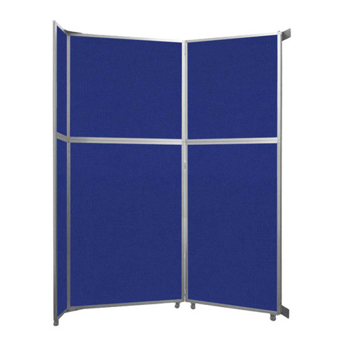 "Operable Wall Folding Room Divider 7'11"" x 10'3/4"" Royal Blue Fabric"