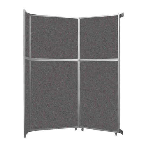 """Operable Wall Folding Room Divider 7'11"""" x 10'3/4"""" Charcoal Gray Fabric"""