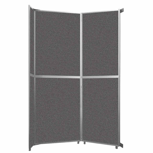 """Operable Wall Folding Room Divider 7'11"""" x 12'3"""" Charcoal Gray Fabric"""
