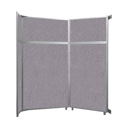 """Operable Wall Folding Room Divider 7'11"""" x 8'5-1/4"""" Cloud Gray Fabric"""
