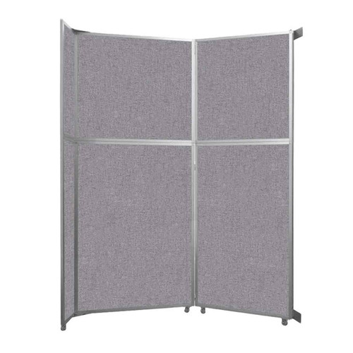 """Operable Wall Folding Room Divider 7'11"""" x 10'3/4"""" Cloud Gray Fabric"""