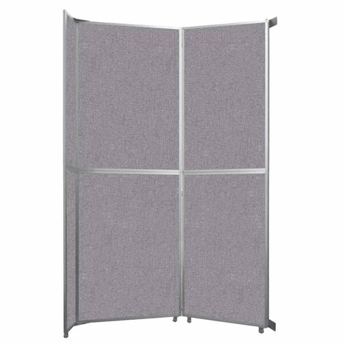 """Operable Wall Folding Room Divider 7'11"""" x 12'3"""" Cloud Gray Fabric"""