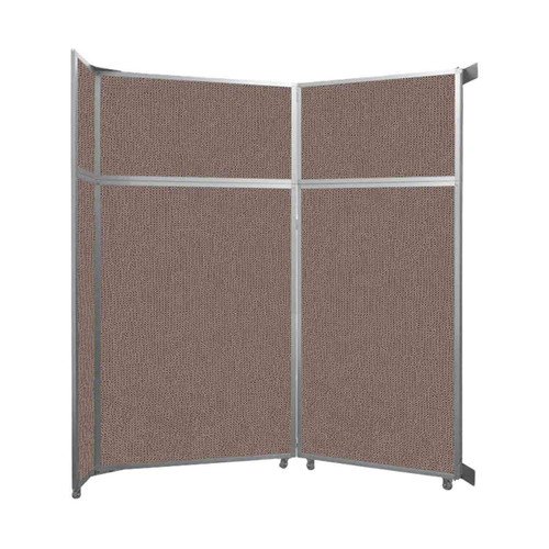 """Operable Wall Folding Room Divider 7'11"""" x 8'5-1/4"""" Latte Fabric"""