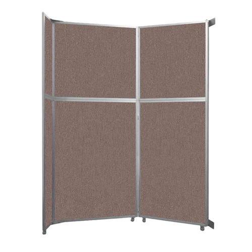 """Operable Wall Folding Room Divider 7'11"""" x 10'3/4"""" Latte Fabric"""