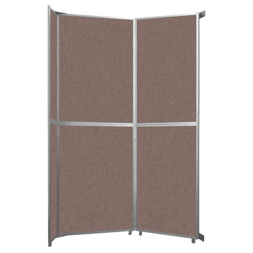 """Operable Wall Folding Room Divider 7'11"""" x 12'3"""" Latte Fabric"""