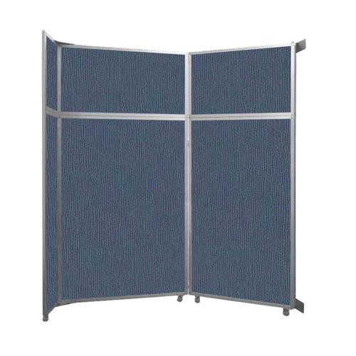 "Operable Wall Folding Room Divider 7'11"" x 8'5-1/4"" Ocean Fabric"