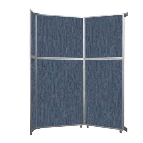"Operable Wall Folding Room Divider 7'11"" x 10'3/4"" Ocean Fabric"