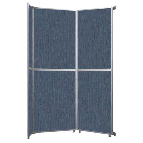 "Operable Wall Folding Room Divider 7'11"" x 12'3"" Ocean Fabric"
