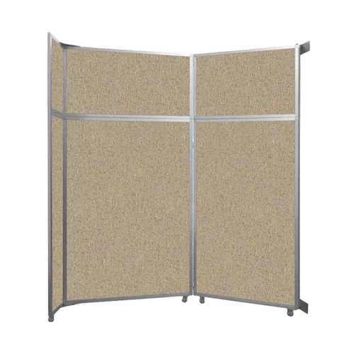 "Operable Wall Folding Room Divider 7'11"" x 8'5-1/4"" Rye Fabric"