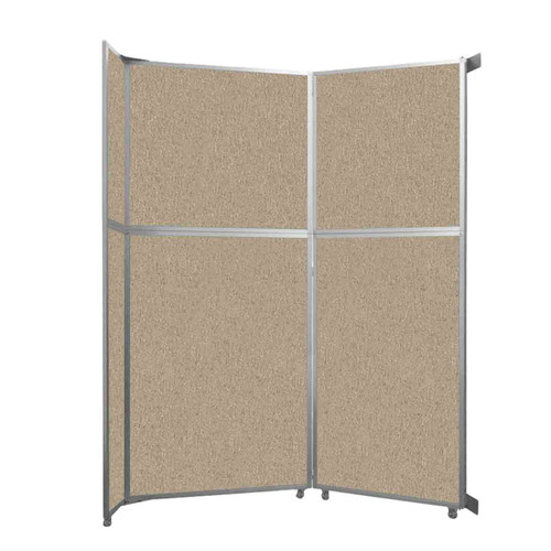 """Operable Wall Folding Room Divider 7'11"""" x 10'3/4"""" Rye Fabric"""