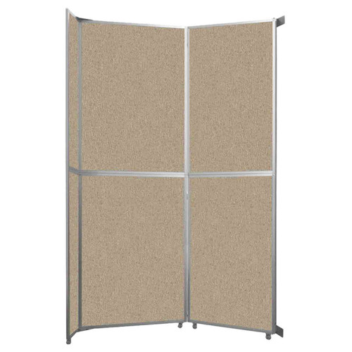 "Operable Wall Folding Room Divider 7'11"" x 12'3"" Rye Fabric"