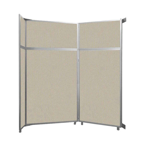 "Operable Wall Folding Room Divider 7'11"" x 8'5-1/4"" Sand Fabric"