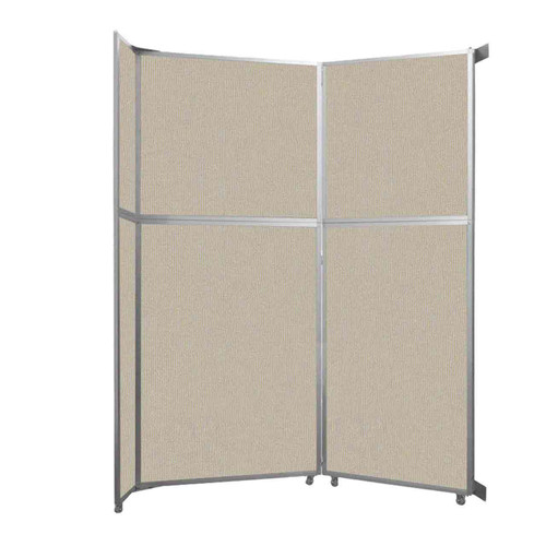 """Operable Wall Folding Room Divider 7'11"""" x 10'3/4"""" Sand Fabric"""