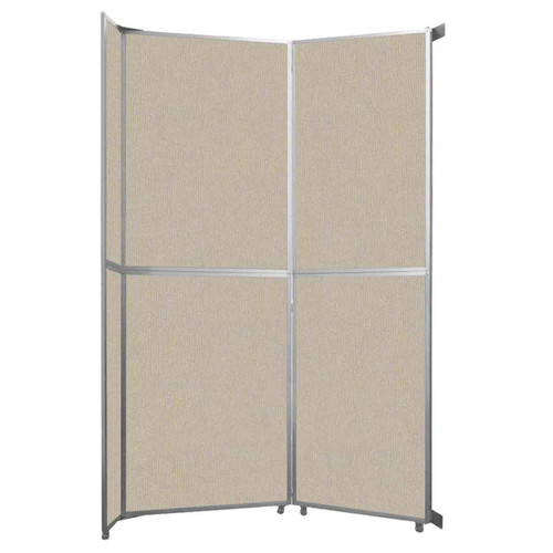 "Operable Wall Folding Room Divider 7'11"" x 12'3"" Sand Fabric"