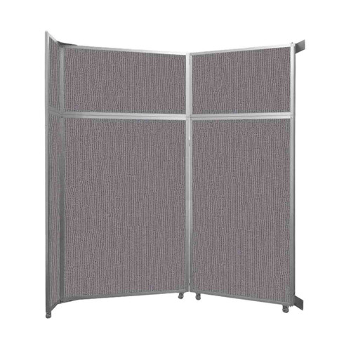 """Operable Wall Folding Room Divider 7'11"""" x 8'5-1/4"""" Slate Fabric"""
