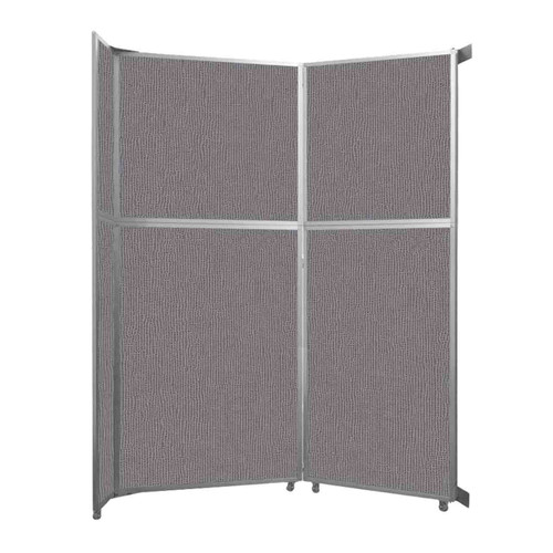 "Operable Wall Folding Room Divider 7'11"" x 10'3/4"" Slate Fabric"