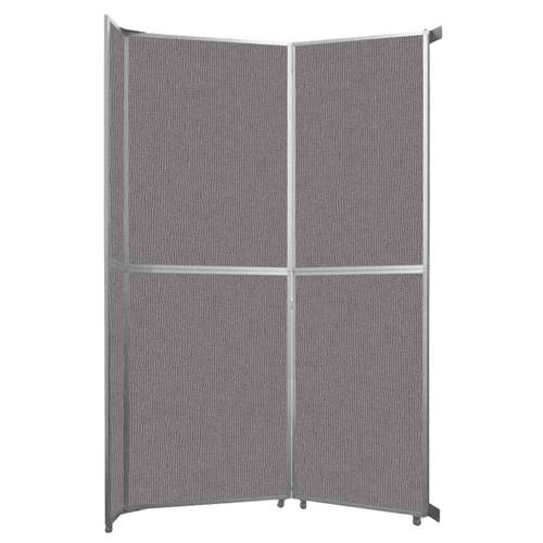 "Operable Wall Folding Room Divider 7'11"" x 12'3"" Slate Fabric"