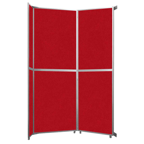 "Operable Wall Folding Room Divider 7'11"" x 12'3"" Red Fabric"