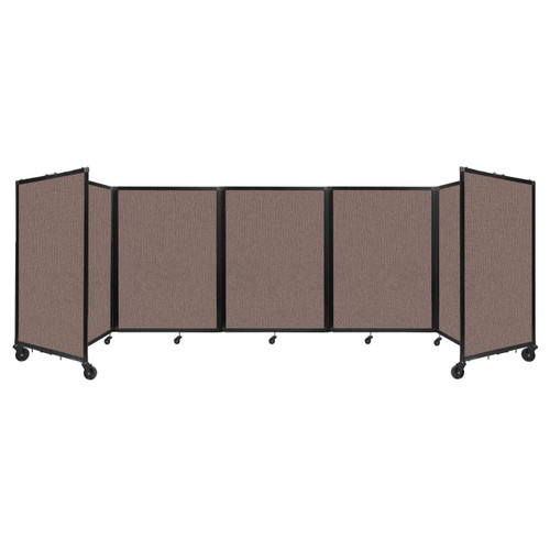 Room Divider 360 Folding Portable Partition 14' x 4' Latte Fabric