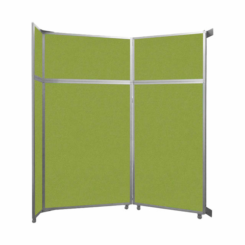 "Operable Wall Folding Room Divider 7'11"" x 8'5-1/4"" Lime Green Fabric"