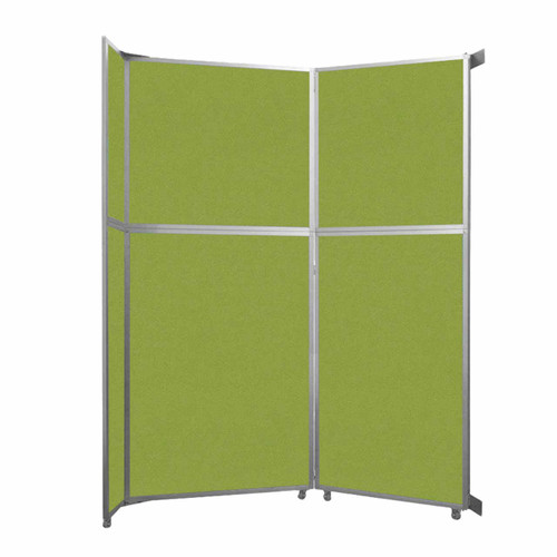 "Operable Wall Folding Room Divider 7'11"" x 10'3/4"" Lime Green Fabric"
