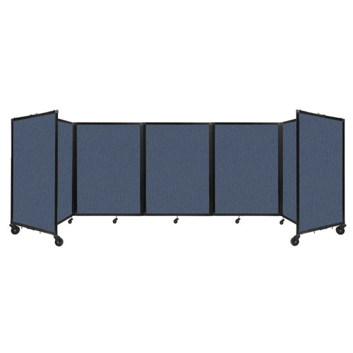 Room Divider 360 Folding Portable Partition 14' x 4' Ocean Fabric
