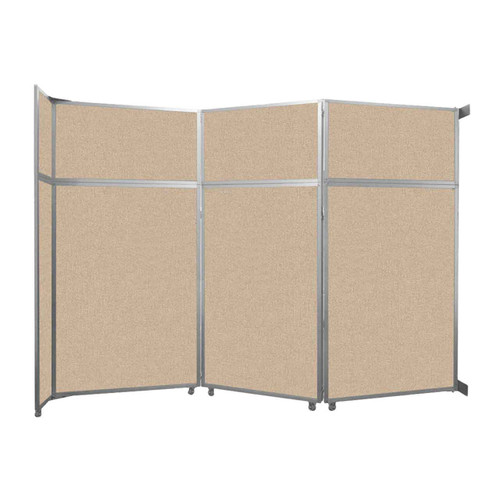 """Operable Wall Folding Room Divider 11'9"""" x 8'5-1/4"""" Beige Fabric"""
