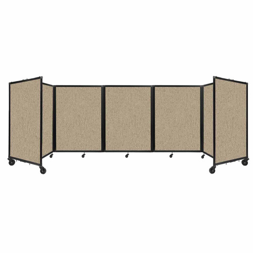 Room Divider 360 Folding Portable Partition 14' x 4' Rye Fabric