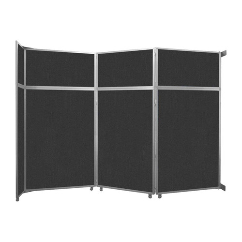 """Operable Wall Folding Room Divider 11'9"""" x 8'5-1/4"""" Black Fabric"""