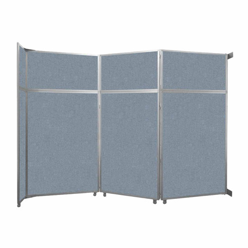 "Operable Wall Folding Room Divider 11'9"" x 8'5-1/4"" Powder Blue Fabric"