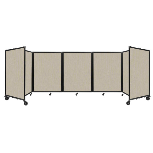 Room Divider 360 Folding Portable Partition 14' x 4' Sand Fabric