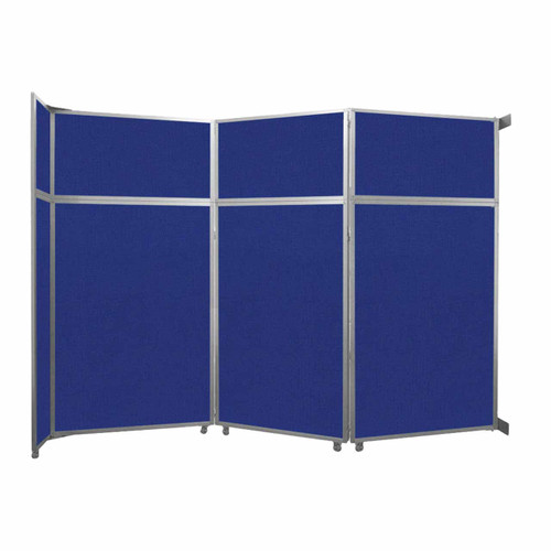 "Operable Wall Folding Room Divider 11'9"" x 8'5-1/4"" Royal Blue Fabric"