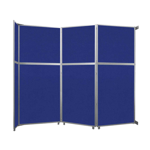 """Operable Wall Folding Room Divider 11'9"""" x 10'3/4"""" Royal Blue Fabric"""